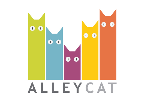 Logo for the online project of raise funding for stray animals, Alley Cat