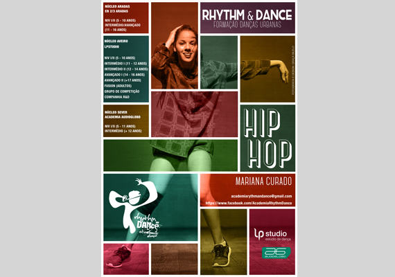 Poster for Hip Hop classes for Academia Rythm&Dance.